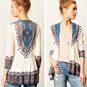 NEW Knitted & Knotted cleophee paisley cardigan